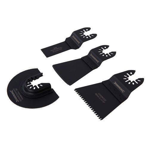 4 Piece Silverline 880380 Multi Tool Assorted Cutting & Scraping Blade Set